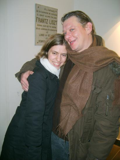Thierry et votre webmastrice en 2007